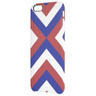 Red, White, and Blue Chevrons Clear iPhone 6 Plus Case