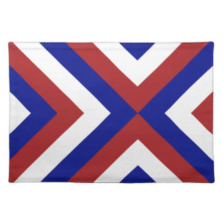 Red, White, and Blue Chevrons Cloth Placemat