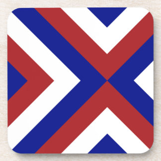 Red, White, and Blue Chevrons Coaster