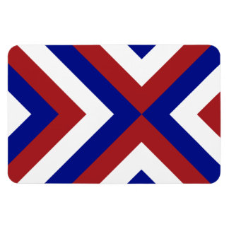 Red, White, and Blue Chevrons Flexible Magnet