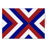 Red, White, and Blue Chevrons Greeting Card