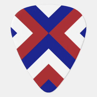 Red, White, and Blue Chevrons Guitar Pick
