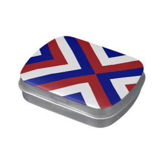 Red, White, and Blue Chevrons Jelly Belly Tins