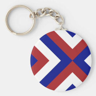 Red, White, and Blue Chevrons Keychain