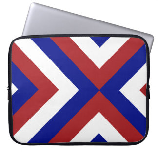 Red, White, and Blue Chevrons Laptop Sleeve
