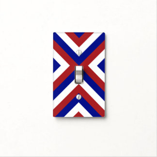 Red, White, and Blue Chevrons Light Switch Cover