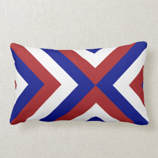 Red, White, and Blue Chevrons Lumbar Pillow