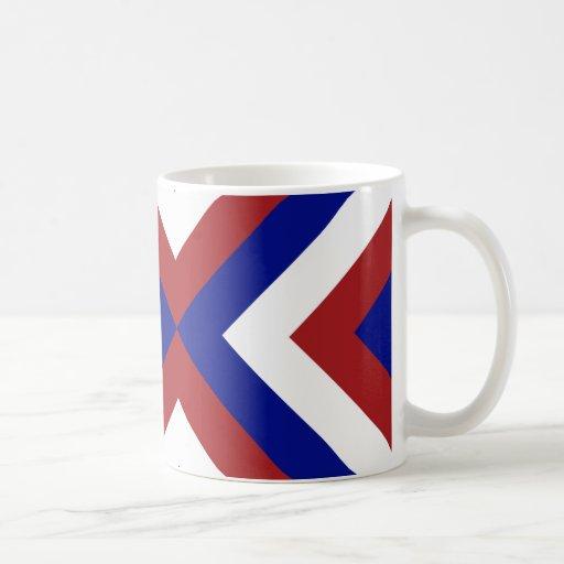 Red, White, and Blue Chevrons Classic White Coffee Mug