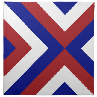 Red, White, and Blue Chevrons Napkins