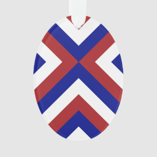 Red, White, and Blue Chevrons Ornament