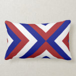 Red, White, and Blue Chevrons Pillow