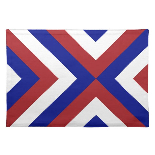 Red, White, and Blue Chevrons Placemat