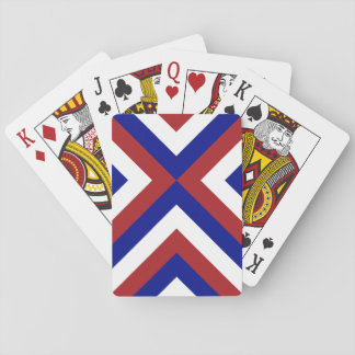 Red, White, and Blue Chevrons Playing Cards