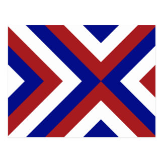 Red, White, and Blue Chevrons Postcard