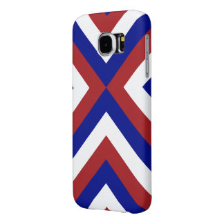 Red, White, and Blue Chevrons Samsung Galaxy S6 Case
