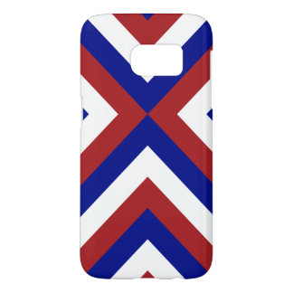 Red, White, and Blue Chevrons Samsung Galaxy S7 Case