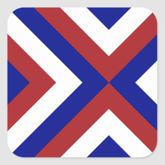 Red, White, and Blue Chevrons Square Sticker