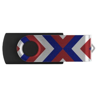 Red, White, and Blue Chevrons Swivel USB 3.0 Flash Drive
