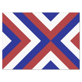 Red, White, and Blue Chevrons Tissue Paper