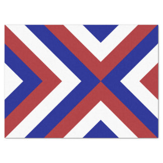 """Red, White, and Blue Chevrons Tissue Paper 17"""" X 23"""" Tissue Paper"""