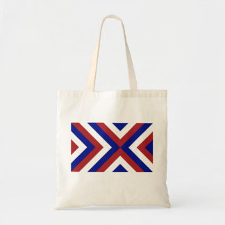 Red, White, and Blue Chevrons Tote Bag