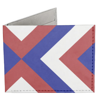 Red, White, and Blue Chevrons Tyvek Wallet