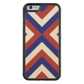 Red, White, and Blue Chevrons Carved® Maple iPhone 6 Bumper