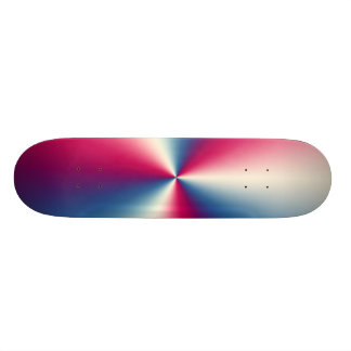 RED,WHITE AND BLUE CHROME SKATEBOARD DECK