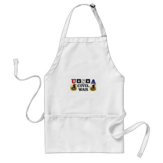 red white and blue civil war adult apron