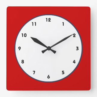 red white and blue classic clock