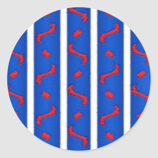 Red White and Blue Classic Round Sticker