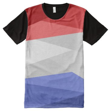 Red White and Blue Color Stacks All-Over-Print Shirt
