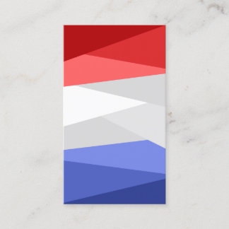 Red White and Blue Color Stacks Business Card