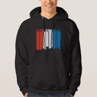 Red White And Blue Columbia South Carolina Skyline Hoodie