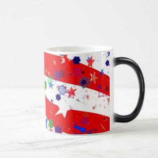 Red White and Blue Confetti Magic Mug