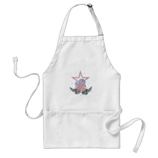 Red White and Blue Cowboy boots Adult Apron