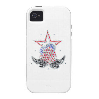 Red White and Blue Cowboy boots iPhone 4/4S Case