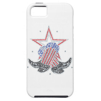 Red White and Blue Cowboy boots iPhone 5 Cases