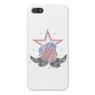 Red White and Blue Cowboy Boots iPhone 5 Case