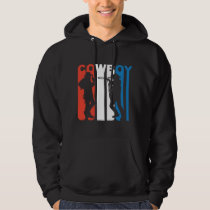 Red White And Blue Cowboy Hoodie
