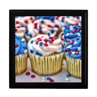Red, White and Blue Cupcake Gift Box