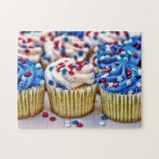 Red, White and Blue Cupcakes Jigsaw Puzzle