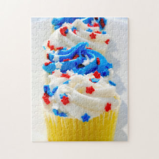 Red White and Blue Cupcakes Jigsaw Puzzles