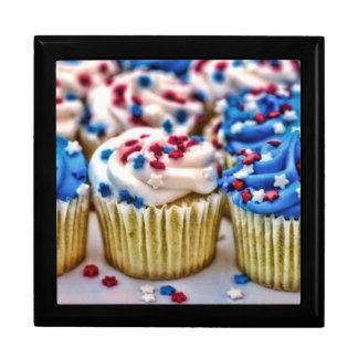 Red, White and Blue Cupcakes Keepsake Box