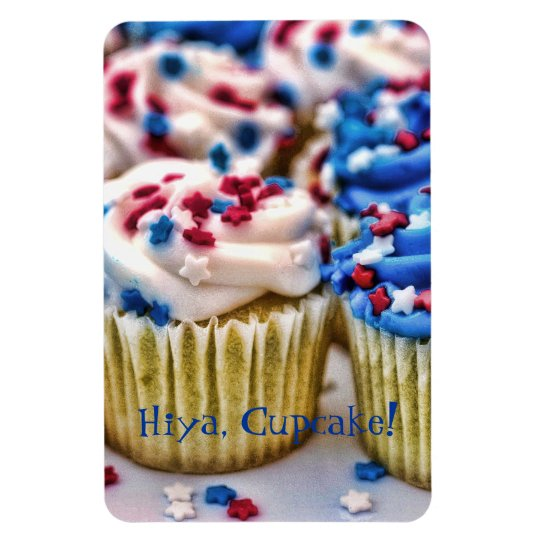 Red, White and Blue Cupcakes Magnet