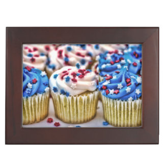 Red White and Blue Cupcakes Memory Boxes