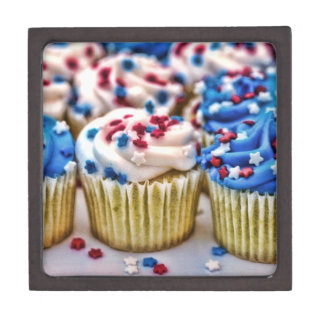 Red, White and Blue Cupcakes Premium Gift Boxes