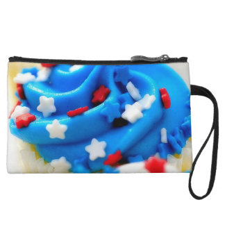 Red White and Blue Cupcakes Wristlet