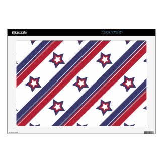 "Red, White and Blue Decals For 17"" Laptops"