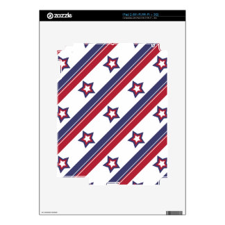 Red, White and Blue Decals For iPad 2